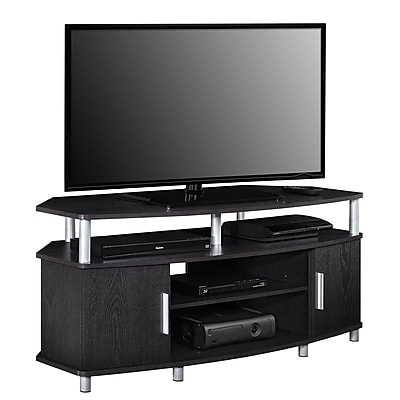 "Ameriwood Home Carson Laminate Corner TV Stand, Espresso, For TVs up to 50"" (1797096COM)"