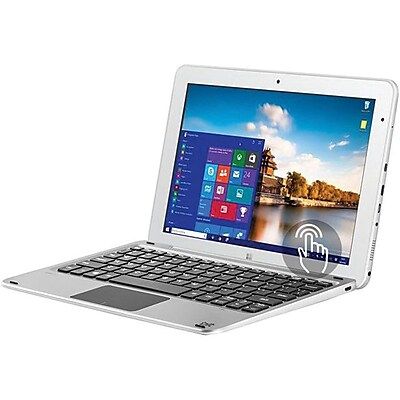 """""BIT CORE+ W11046PB 10.1"""""""" 2-in-1 Tablet with Keyboard, 4GB RAM, Windows 10 Home, SILVER"""""" 2596611"