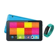"Supersonic® SC6207FIT 7"" Tablet with Fitness Band, 512MB RAM, Android 4.4, Blue"