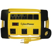 CyberPower 6' Cord 8-Outlet Heavy-Duty Power Strip, Yellow (CYBDS806MYL)