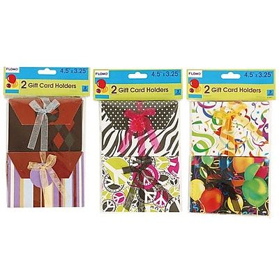 Flomo- All Occasion Gift Card Holders, Assorted