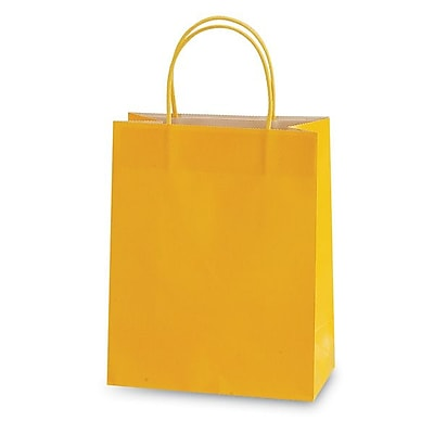 Flomo- Narrow Medium Gift Bags, YELLOW, 60/Pack,