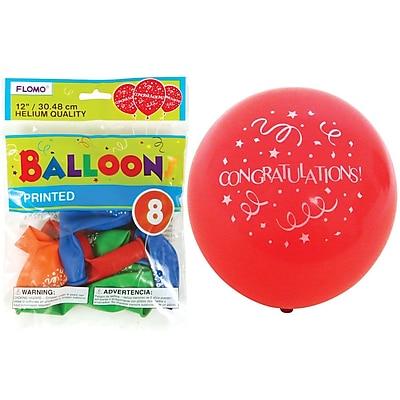 """""Flomo- 12"""""""" Balloons, """"""""CONGRATULATIONS"""""""", 96/Pack, (BL841)"""""" 2599158"