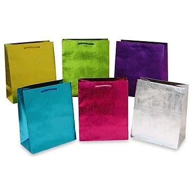 Flomo- Large Gift Bags, EMBOSSED METALLIC WAVE, 12/Pack, (KF615L)