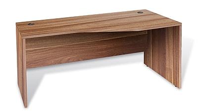 Unique Furniture 100 Collection Crescent Desk Right Walnut (1632432R-WAL)