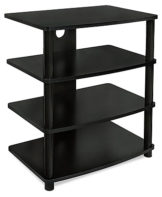 Mount-It! Mi-868 Mount-It! Media Stand Furniture for Home Entertainment Centers, 4 Wood Shelves