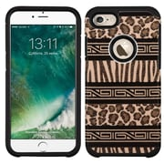Insten Zebra Hard Dual Layer Rubber SIlIcone Case For Apple IPhone 7 - Brown/Black