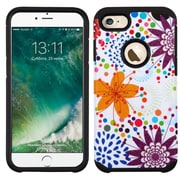 Insten Flower Buds Hard Dual Layer SIlIcone Case For Apple IPhone 7 - Purple/WhIte