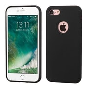 Insten Black/Black Advanced Armor HybrId Dual Layer Case Cover for Apple IPhone 7