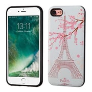 Insten Paris Eiffel Tower/Black Advanced Armor (3D Pattern) Hybrid Dual Layer Case Cover for Apple iPhone 7/ 8