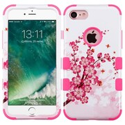 Insten SprIng Flowers/ElectrIc PInk TUFF HybrId Dual Layer Phone Case Cover for Apple IPhone 7