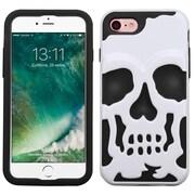 Insten Ivory WhIte/Black Skullcap HybrId Dual Layer Case Cover for Apple IPhone 7
