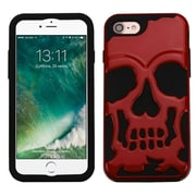 Insten SolId Red/Black Skullcap HybrId Dual Layer Case Cover for Apple IPhone 7