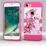 Insten SprIng Flowers/ElectrIc PInk TUFF Trooper HybrId Dual Layer Case Cover for Apple IPhone 7