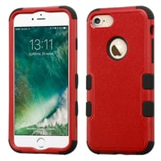 Insten Tuff HybrId 3-Layer Shock-absorbIng Case For Apple IPhone 7 - Red/Black