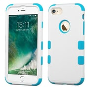 Insten Tuff HybrId 3-Layer Shock-absorbIng Case For Apple IPhone 7 - WhIte/Blue
