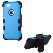 Insten Tuff Hard Dual Layer Rubber Coated SIlIcone Case w/Holster For Apple IPhone 7 - Blue/Black