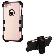 Insten Tuff Hard HybrId SIlIcone Case w/Holster For Apple IPhone 7 - Rose Gold/Black