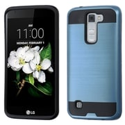 Insten Hard Dual Layer Rubber Coated SIlIcone Cover Case For LG K7 - Blue/Black