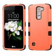 Insten Tuff Hard HybrId SIlIcone Cover Case For LG K7 - Orange/Black