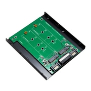 Syba 3.5 Inch Mount Dual M.2 SSD Slot to Two SATA III Port Adapter
