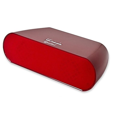 Connectland Bluetooth V2.1 +EDR WIreless Stereo Portable Speaker 2 x 3w (Powered by BatterIes or AC Adapter) , Red 2607305