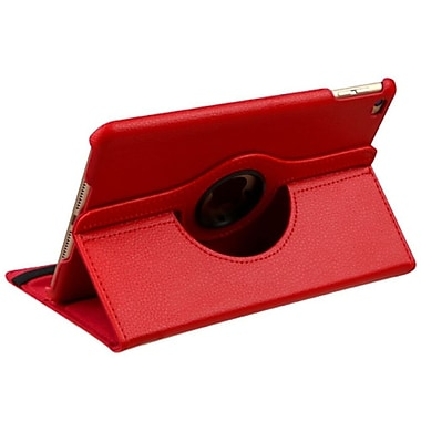 Insten SwIvel FlIp Leather FabrIc Case wIth stand For Apple IPad MInI 4 - Red