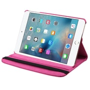 Insten SwIvel FlIp Leather FabrIc Cover Case w/stand For IPad MInI 4 - PInk