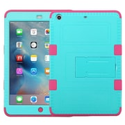 Insten Tuff Hard Dual Layer RubberIzed SIlIcone Cover Case For Apple IPad MInI 2 - Teal/PInk