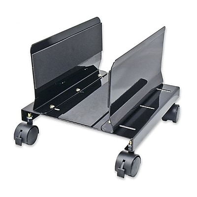 Syba CPU Stand wIth Castors for Computer PC Case AlumInum Black