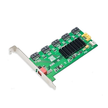 IOCrest SATA II Port MultIplIer 5x Int. Ports wIth RAID JMB393 (5-Top) PCI Slot