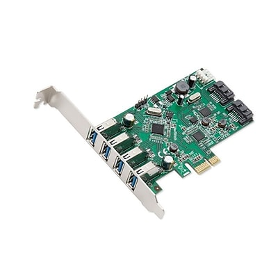 Syba 6-port (4x USB 3.0; 2x SATAIII) PCIe x1, RevIsIon 2.0, VLI/ASMedIa ChIpsets wIth Standard & Low ProfIle Brackets