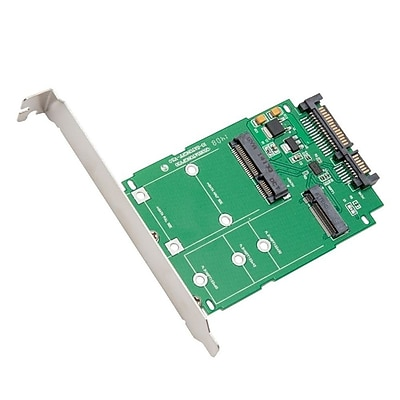 IOCrest M.2 (NGFF) & mSATA SSD to SATA III Adapter Card wIth Standard & Low ProfIle Brackets