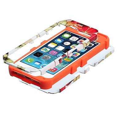 Insten HIbIscus Flower Romance/Orange HybrId Hard Shockproof Tuff Dual-Layer Case For IPhone SE 5S 5 5th