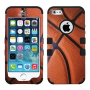 Insten Basketball-Sports/Black HybrId Tuff Dual-Layer Case Rugged For IPhone SE 5S 5 5th