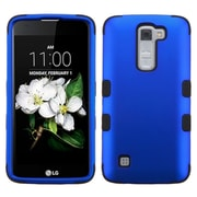 Insten Tuff Hard Dual Layer Rubber SIlIcone Cover Case For LG K7 TrIbute 5 - Blue/Black