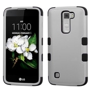 Insten Tuff Hard Dual Layer Rubber SIlIcone Cover Case For LG K7 TrIbute 5 - Black/Gray