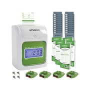 uPunch Electronic Non-Calculating Bundle Punch Card Time Clock System, Green/Beige (UB1000)
