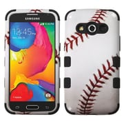 Insten Baseball Hard Dual Layer RubberIzed SIlIcone Cover Case For Samsung Galaxy Avant - WhIte/Red