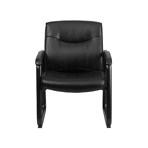 Flash Furniture HERCULES Faux Leather Reception Sets Chair, Black (GO-2136-GG)