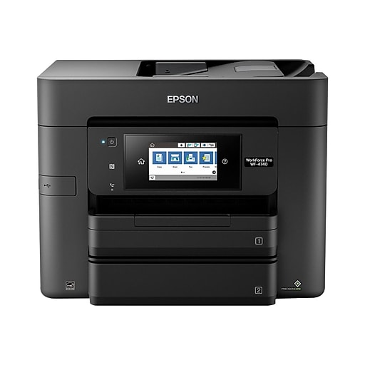 Epson WorkForce Pro WF-4740 C11CF75201 USB, Wireless, Network Ready Color  Inkjet All-In-One Printer