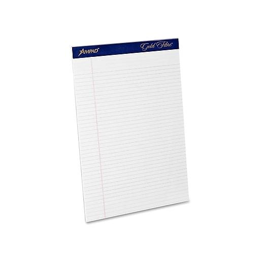 11b7760d1926 Ampad Gold Fibre Notepads, 8.5