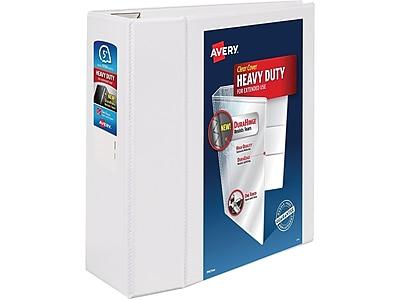 "Avery Heavy-Duty 5"" 3-Ring View Binder, White (79106)"