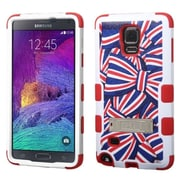 Insten AmerIcan Bows Hard Dual Layer SIlIcone Case w/stand For Samsung Galaxy Note 4 - Blue/Red