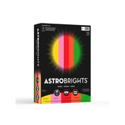 "Astrobrights Vintage Multipurpose Paper, 24 lbs, 8.5"" x 11"", Assorted Colors, 500/Pack (21224)"