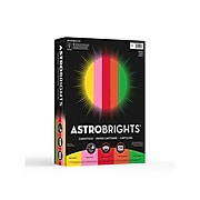 """Astrobrights Vintage Cardstock Paper, 65 lbs, 8.5"""" x 11"""", Assorted Colors, 250/Pack (21003/22003)"""