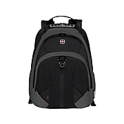 Wenger Pulsar Laptop Backpack, Solid, Black/Gray (28037010)