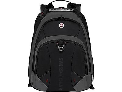 SWISSGEAR Pulsar Laptop Backpack, Solid, Black/Gray (28037010)
