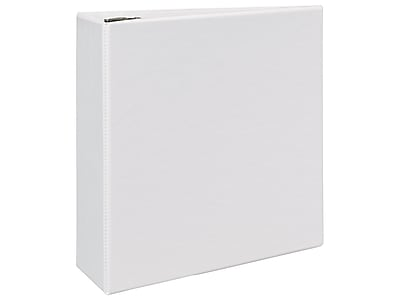 """Avery Durable 4"""" 3-Ring View Binder, White (09801)"""