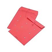 "Quality Park Button & String Inter-Departmental Envelopes, 10"" x 13"", Red, 100/Box (QUA63574)"